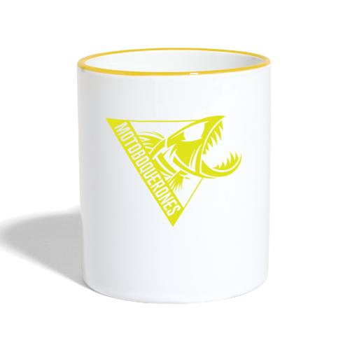 Logo Motoboquerones amarillo - Taza en dos colores