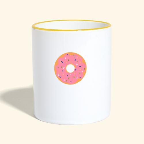 Donut-Shirt - Tasse zweifarbig
