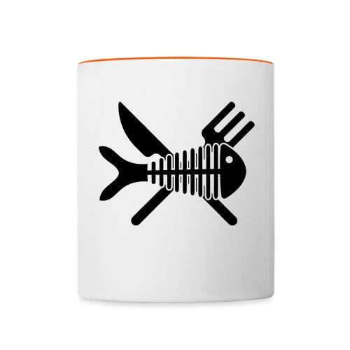 Poisson couvert - Mug contrasté
