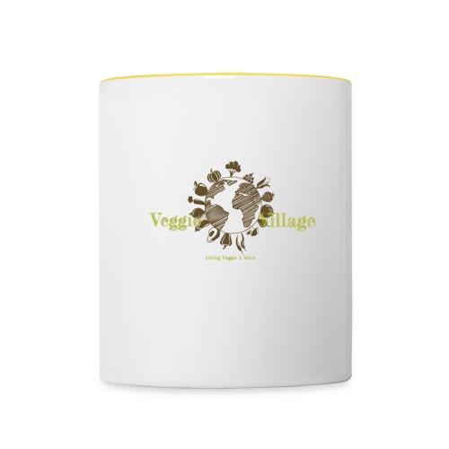VeggieVillage Logo - Tasse zweifarbig