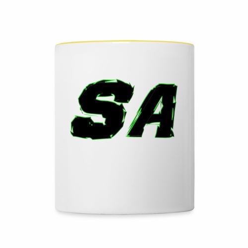 Svart SA Logo - Tvåfärgad mugg