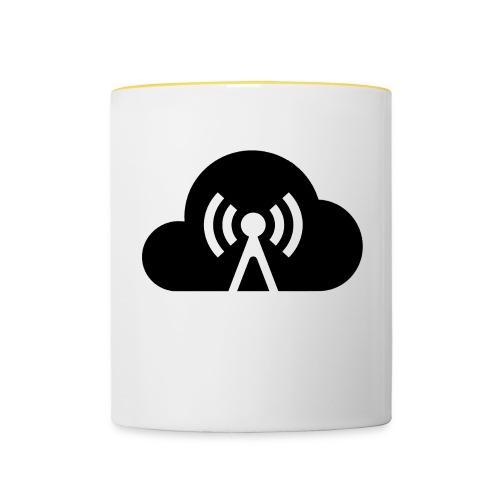 Cloud Cast Wolke schwarz mit Schriftzug - Tasse zweifarbig