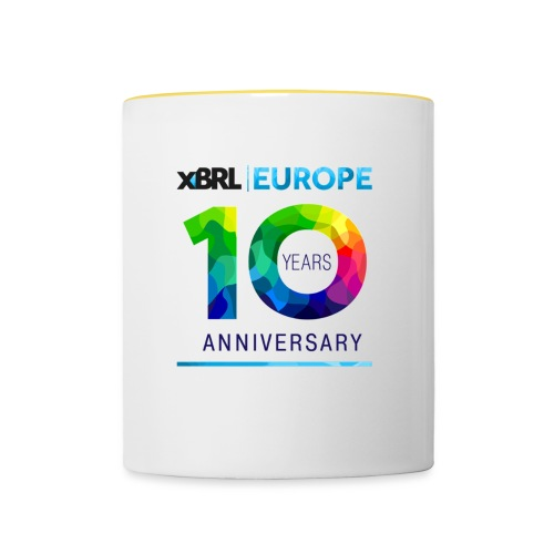 10th anniversary of XBRL Europe - Contrasting Mug