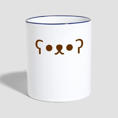 Kuma Kaomoji (Marron) - Mug contrasté