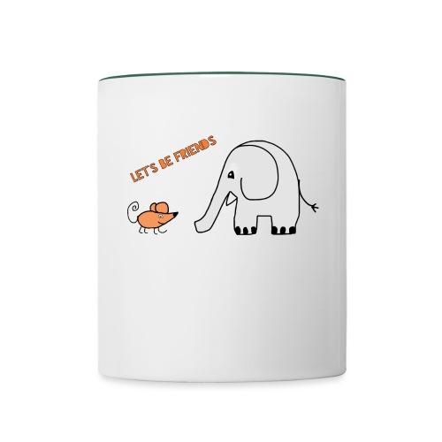 Elephant and mouse, friends - Contrasting Mug