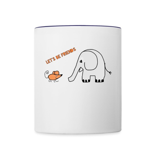 Elephant and mouse, friends - Contrasting Mug