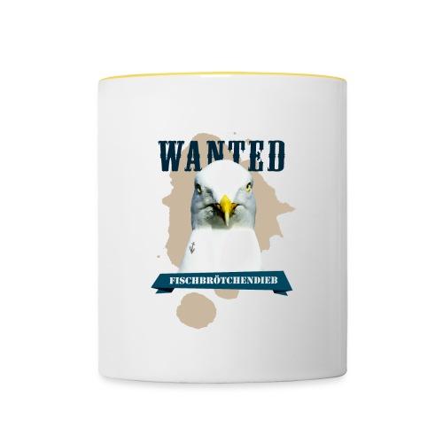 WANTED - Fischbrötchendieb - Tasse zweifarbig