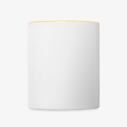Quermast V2 Weiß - Tasse zweifarbig