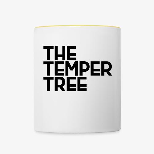 The Temper Tree Schriftzug - Tasse zweifarbig