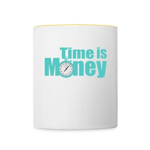 Time is Money - Tasse zweifarbig