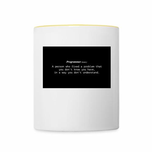 Programer (noun.) - Tvåfärgad mugg
