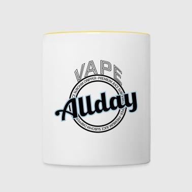 Vape Allday - VAPER slogan - Tvåfärgad mugg