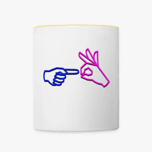 Fuck them! (Logo Edition) - Contrasting Mug
