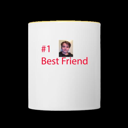 #1 Best Friend - Tvåfärgad mugg