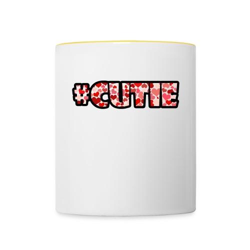 #cutie - Mok tweekleurig