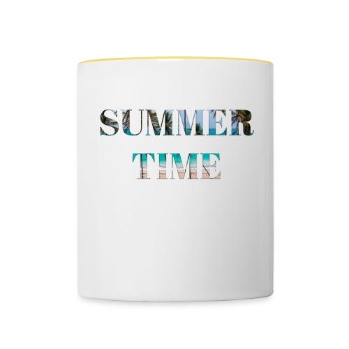 Summertime - Tasse zweifarbig