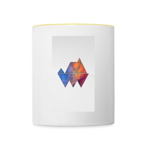 Colourful_Triangles - Tasse zweifarbig