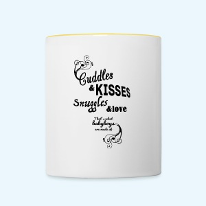 Cuddles and Kisses (Boys) - Mok tweekleurig