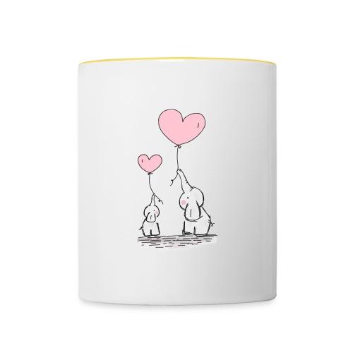cute elephants - Contrasting Mug