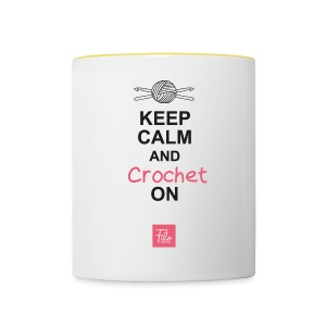 Keep calm and Crochet on - Tazze bicolor
