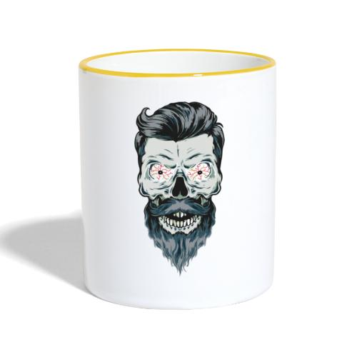 mort barbu - Mug contrasté
