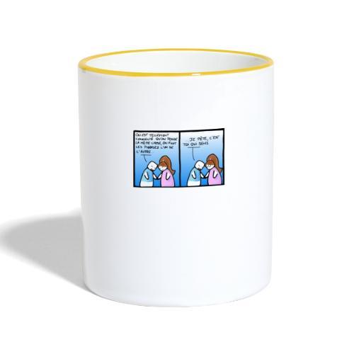 partage - Mug contrasté