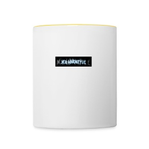 DerHardstyle.ch Kleines Logo - Tasse zweifarbig