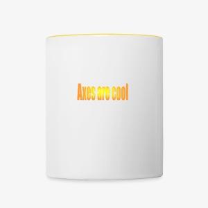Axes are cool - Contrasting Mug