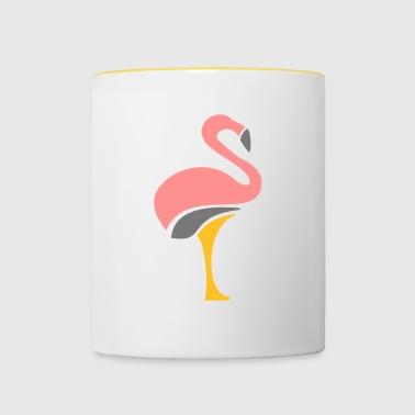 Flamingo gåva - Tvåfärgad mugg
