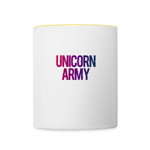 UnicornArmyLogo - Tasse zweifarbig