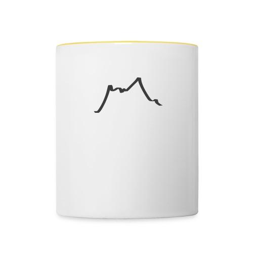 Berge - Tasse zweifarbig