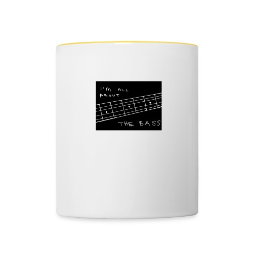 I M ALL ABOUT THE BASS - Contrasting Mug