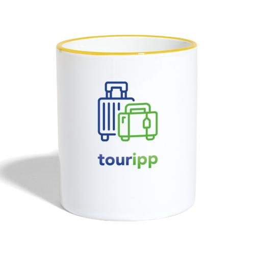 Logo con valigie - Tazze bicolor