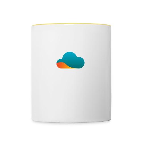 Top World Cloud - Tasse zweifarbig