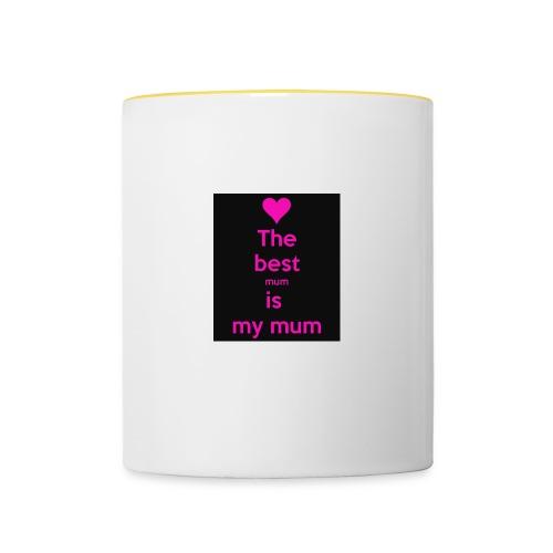 the best mum is my mum - Contrasting Mug