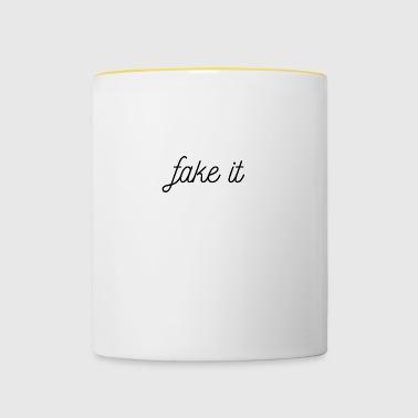 FAKE IT - Kubek dwukolorowy