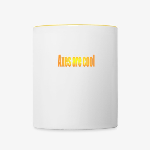 Axes are cool - Contrasting Mug