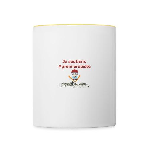 Soutenez #premierepiste - Mug contrasté