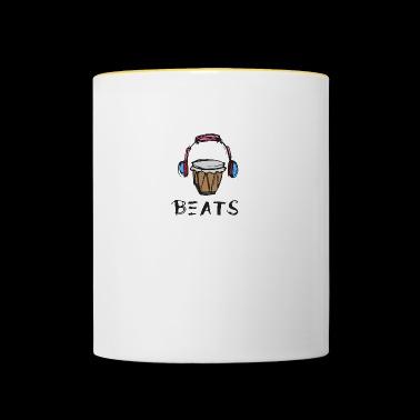 Muzyka Beats słuchawki Wkładki bongo - Kubek dwukolorowy