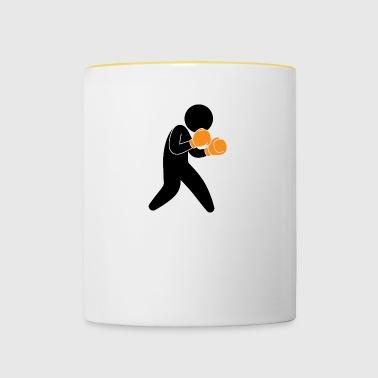 A Boxer Ćwiczenia W Pierścień - Kubek dwukolorowy