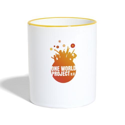 One World Project e. V. - Logo - Tasse zweifarbig