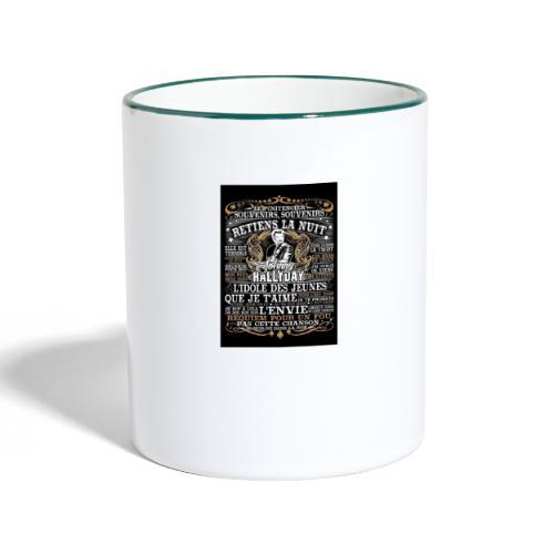 Johnny hallyday diamant peinture Superstar chanteu - Mug contrasté