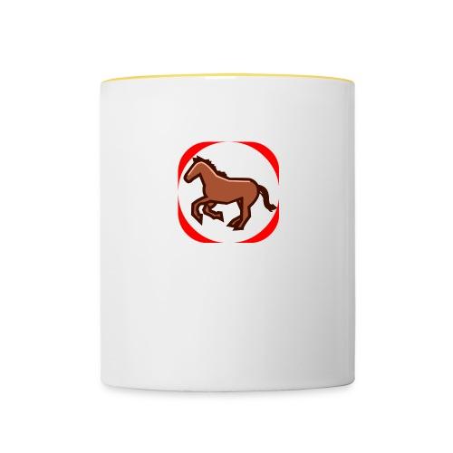 Pferd - Tasse zweifarbig