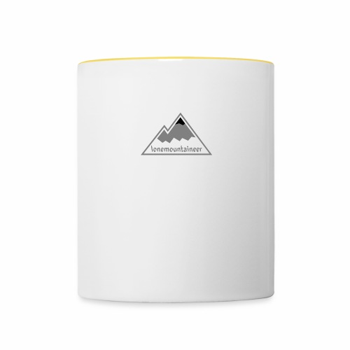 Lonemountaineer logo blk - Contrasting Mug