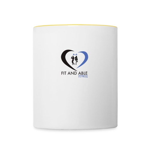Fit and Able Fitness Logo - Contrasting Mug