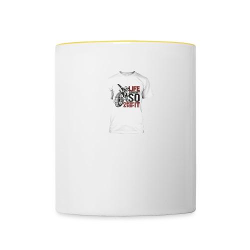 Tee shirt Moto Cross - Mug contrasté