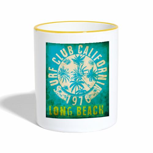 Long Beach Surf Club California 1976 Gift Idea - Contrasting Mug