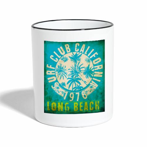 Long Beach Surf Club California 1976 Gift Idea - Contrasting Mug