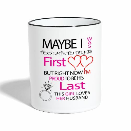 Ich liebe meinen Mann - Geschenkidee - Contrasting Mug