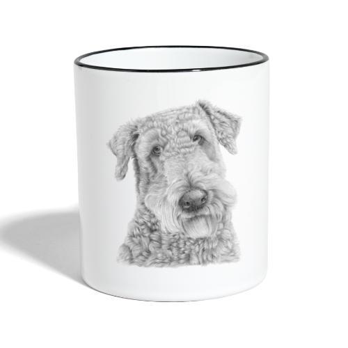 airedale terrier - Tofarvet krus